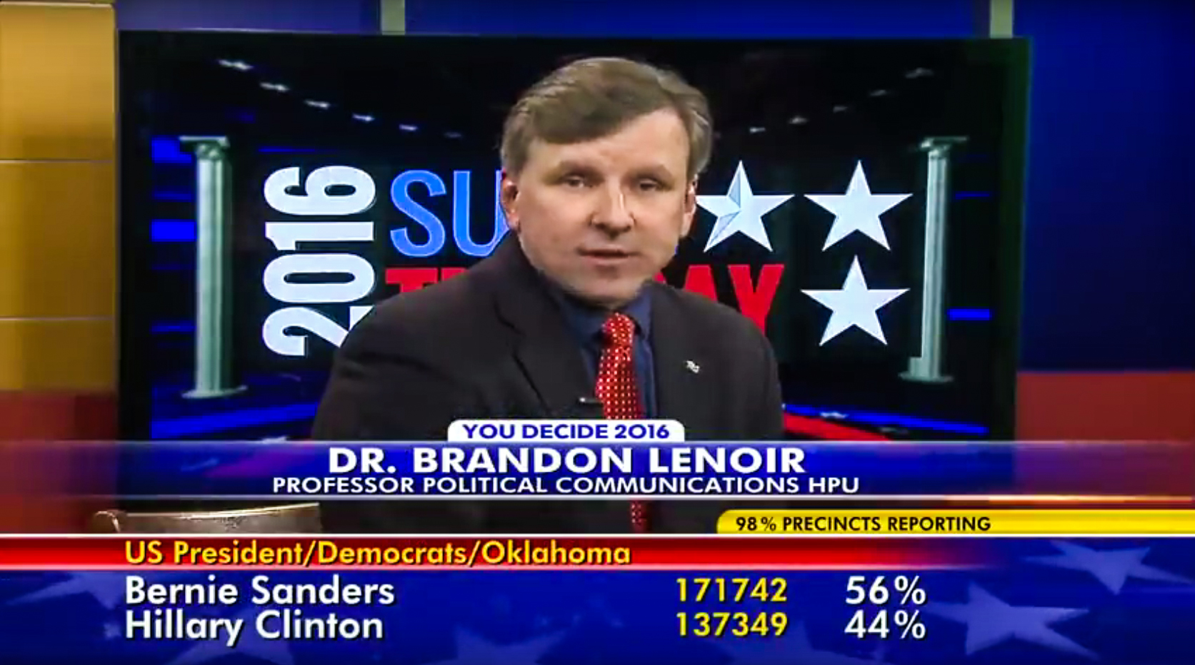 Political communication professor Brandon Lenoir weighed in on Super Tuesday results on Fox 8 WGHP.