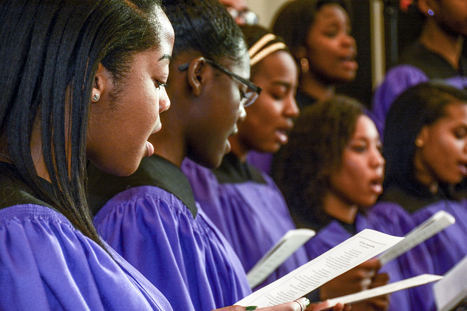 The Genesis Gospel Choir performed at the Black Heritage Service on Sunday.