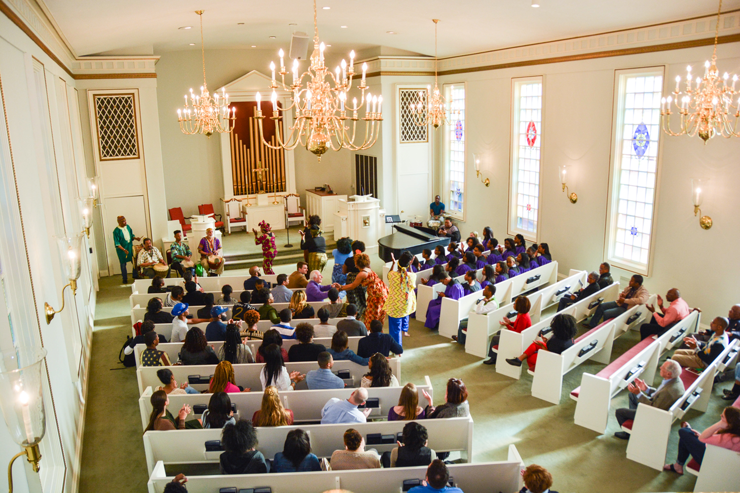 Students and community members gathered together in the Hayworth Chapel for the third annual Black Heritage Service.